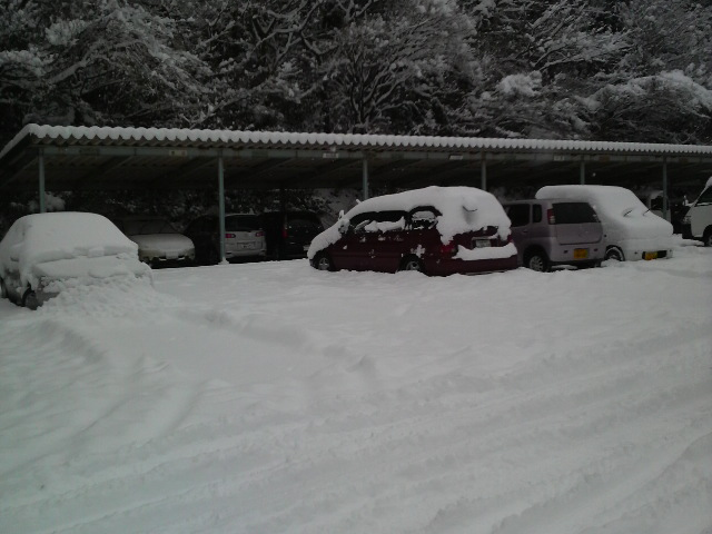 雪の大晦日@岡山県北